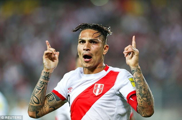FIFA suspends Peru Captain Guerrero for one year, to miss World Cup