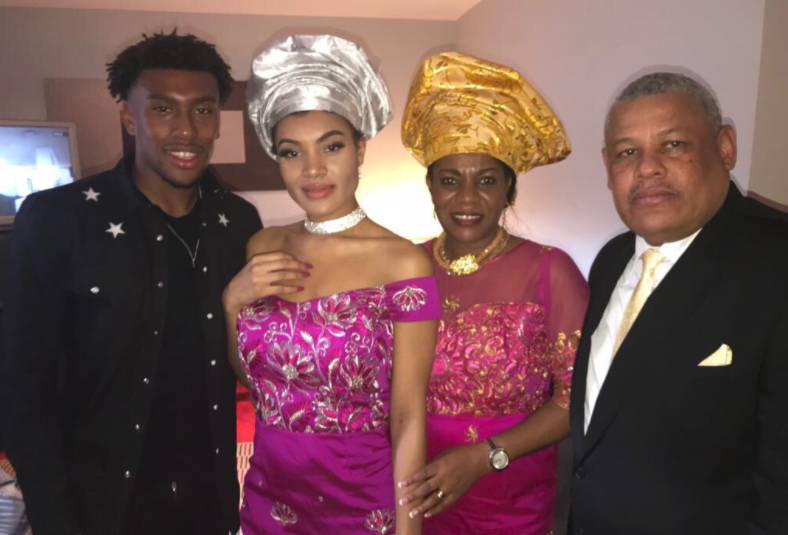 """Alex Iwobi shares Funny Family """"Merry Christmas"""" song Video"""