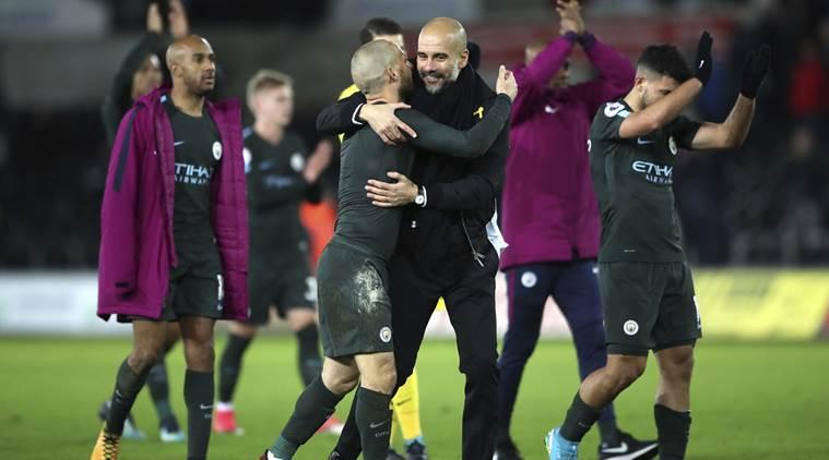Man City sets new EPL history with Swansea thrashing