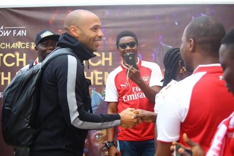 Arsenal Legend, Henry arrives Nigeria