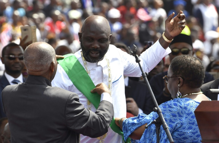 Former Ballon d'Or winner, George Weah sworn in as 25th Liberia president