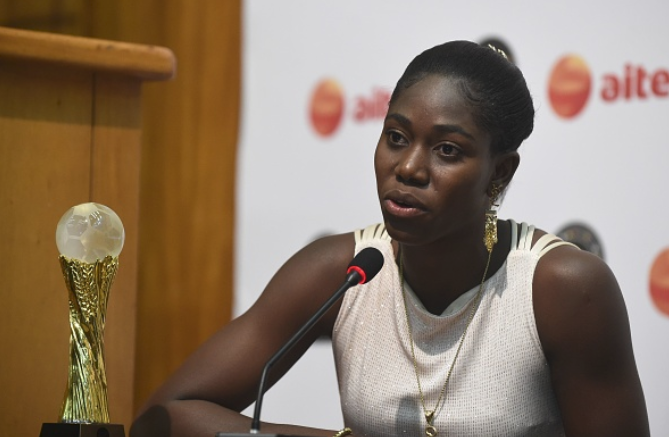 Oshoala sets new objective after claiming Third Best Player Award