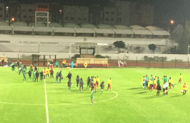 Nigeria vs Cameroon ends in Stalemate, Eagles heads to Tangier Friday