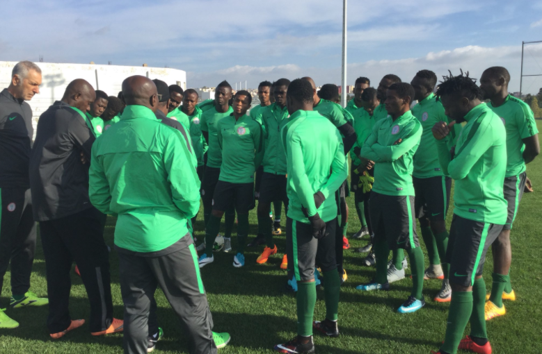 Super Eagles Practise Penalties ahead of Angola Clash