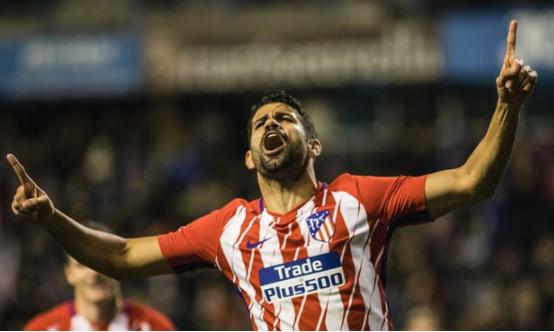 Diego Costa scores on Atletico return