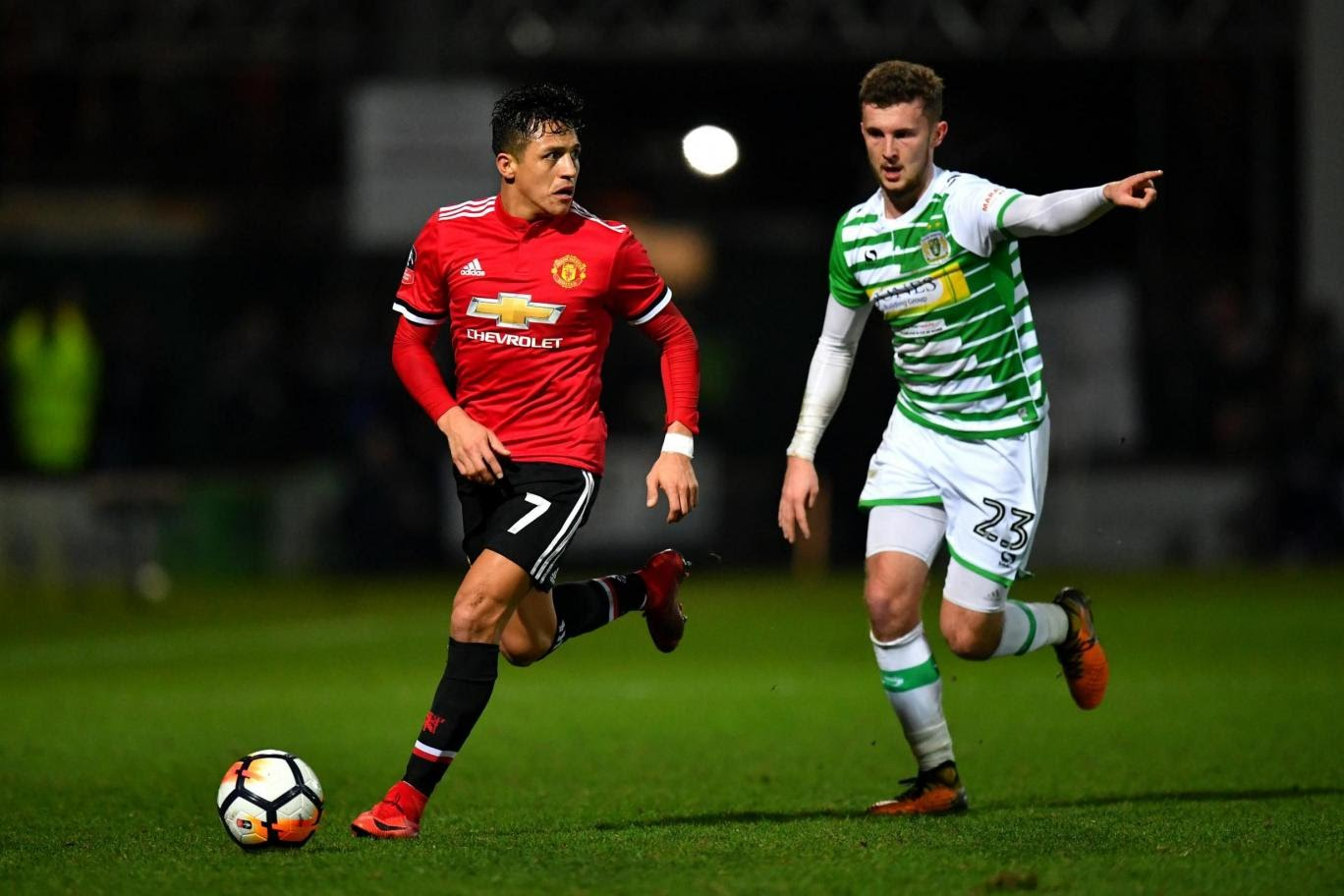 Alexis Sanchez marks United debut with an assist in Yeovil rout