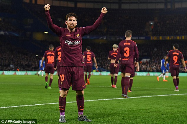 Messi gives Barca advantage in thrilling Champions League clash at the Bridge