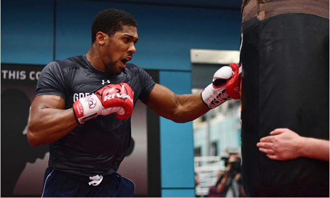 Joshua continues intense training ahead of Parker fight