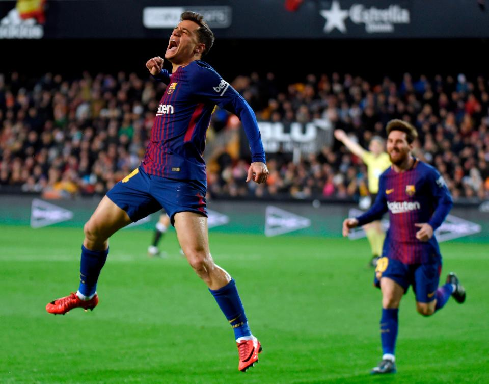 Coutinho scores first Barca goal to set up Copa del Rey final with Sevilla