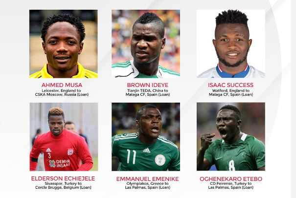 TRANSFER TALKS: 6 Super Eagles Players who made Loan moves in January