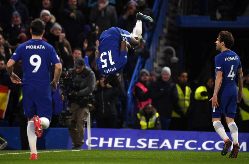 Victor Moses on target as Chelsea thrash West Brom 3-0