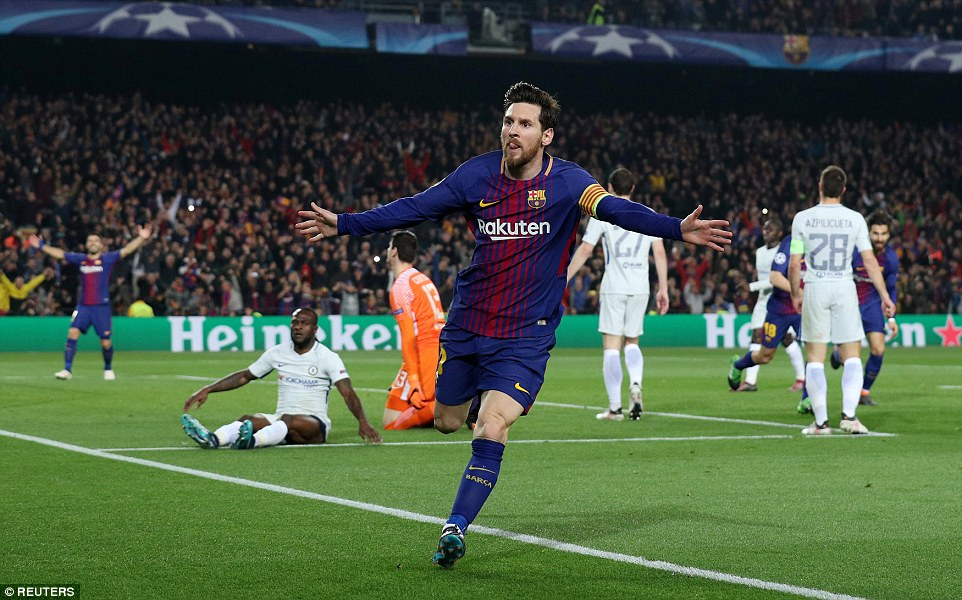 Barcelona knock Chelsea out of Champions League