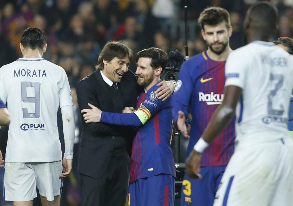 Conte lavishes praise on Lionel Messi after Chelsea's defeat to Barcelona