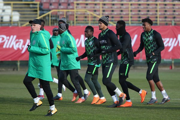 Super Eagles begin training ahead DR Congo friendly at Uyo [PHOTOS]