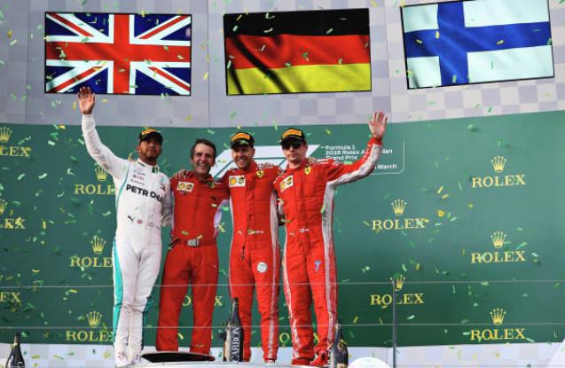 """F1: """"Lucky"""" Vettel beats Lewis Hamilton to Australian GP Title"""