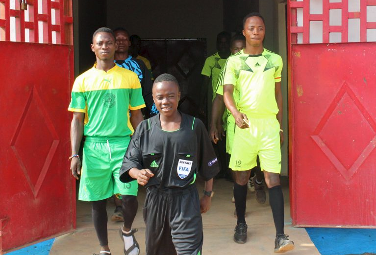 Liberian Kid (Who started officiating Aged 9) Hopes to Emulate Howard Web
