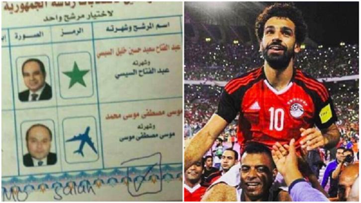 Egyptians Vote Mohamed Salah for President