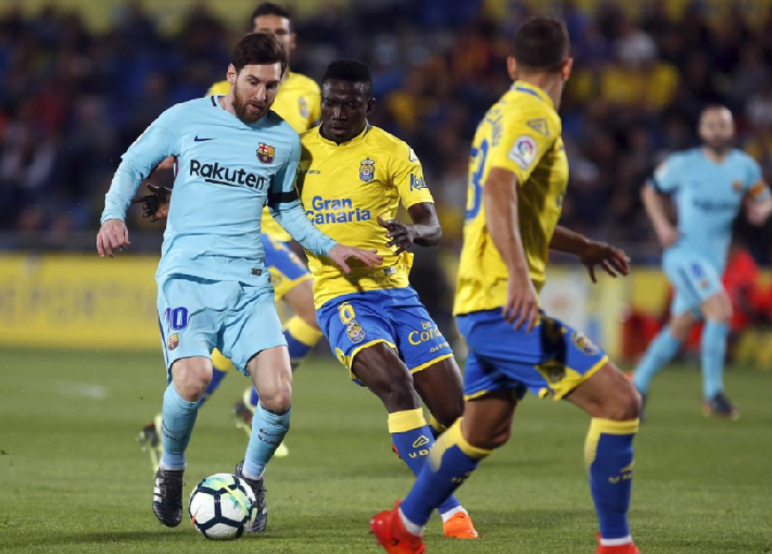 Las Palmas 1-1 Barcelona: Etebo Steals Messi's Shine
