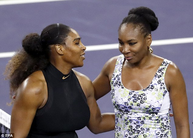 Venus Williams defeated younger sister Serena 6-3, 6-4 at Indian Wells