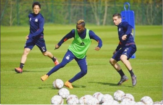 Onyekuru Thanks Everton as he returns to full training with RSS Anderlecht