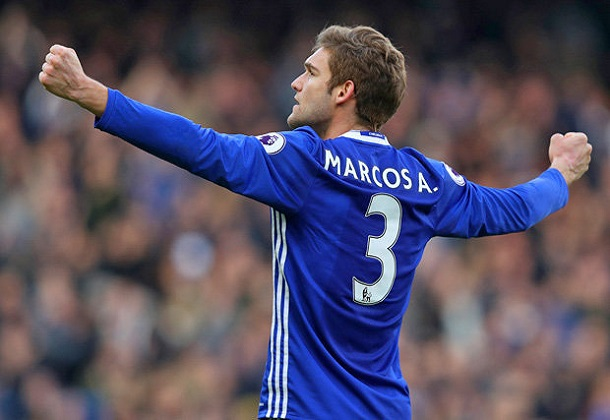 Chelsea's Marcos Alonso charged by FA for violent conduct