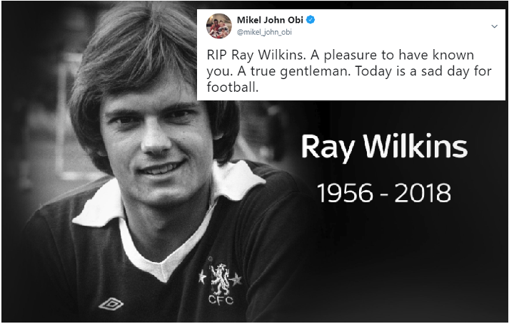 A True Gentleman! Mikel Obi Pays Tribute to Ray Wilkins