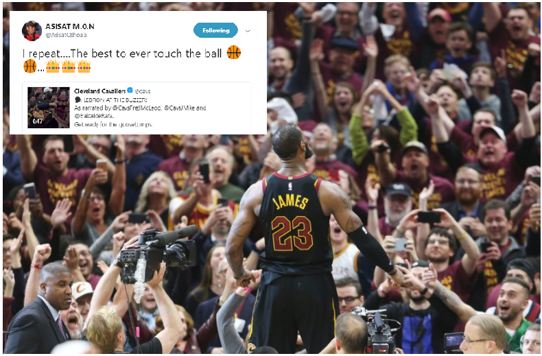 Asisat tweets 'LeBron James is the Best Ever' after Buzzer Win against Pacers