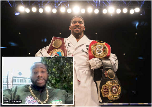 Check Your Email! Deontay Wilder Offers AJ $50million for Unification Fight