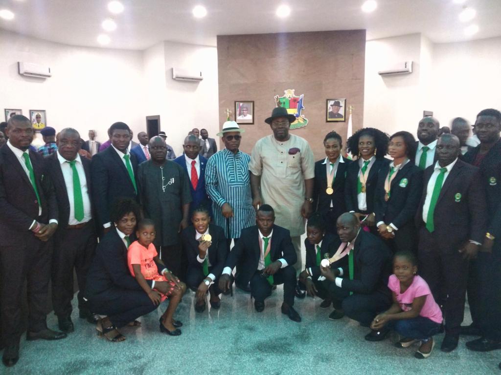 Adekuoroye, Igali commend Bayelsa Governor Dickson for rewarding Athletes