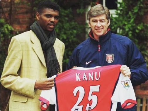 Arsenal Legend Kanu hails 'Great Man' Arsene Wenger
