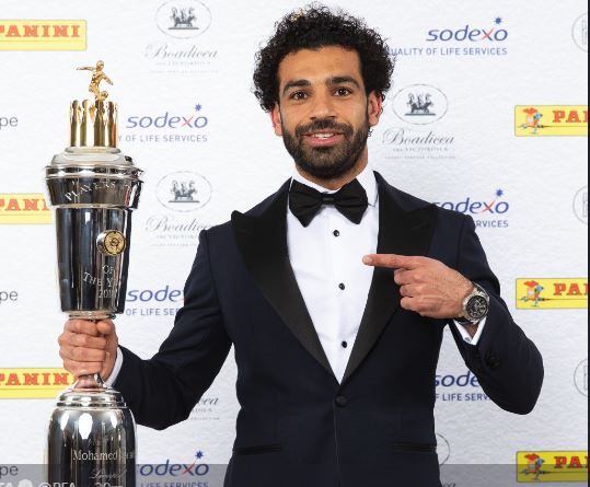 Mohammed Salah wins PFA player of the year award over Kevin De Bruyne