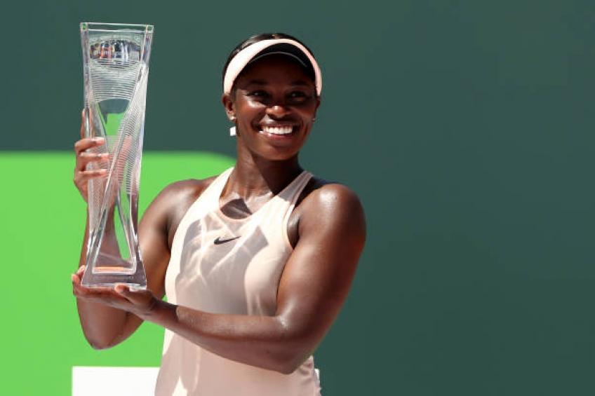 Sloane Stephens revels in Miami Open win over Jelena Ostapenko