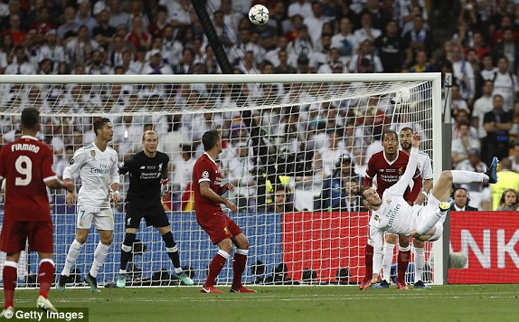 Real Madrid 3-1 Liverpool: Super-sub Bale fires Madrid to third consecutive Champions League Glory