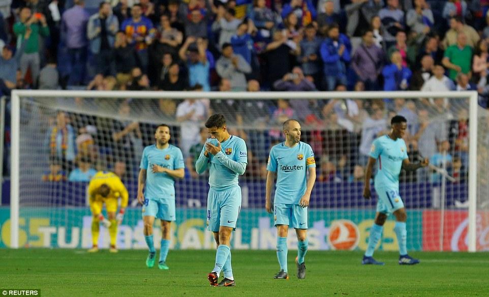 Barcelona lose unbeaten record in La Liga despite Coutinho hat-trick