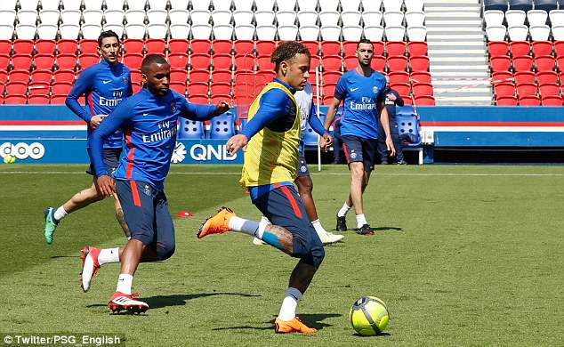 He's back! Neymar Jr returns to full training with PSG