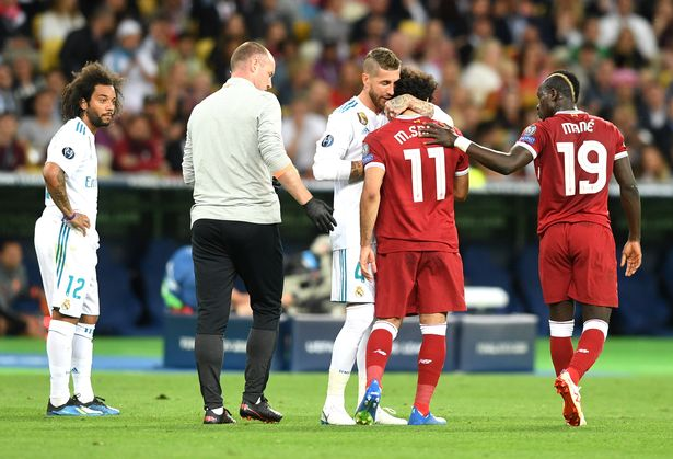 Mo Salah refuses to blame Sergio Ramos for shoulder injury