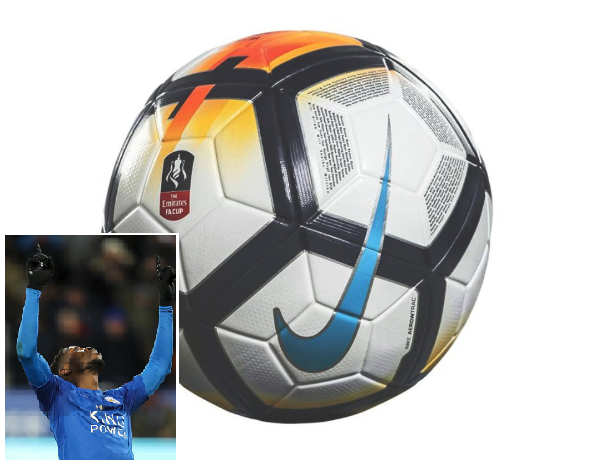 English FA Honors Iheanacho, etched His name and 136 Others on FA Cup Final ball