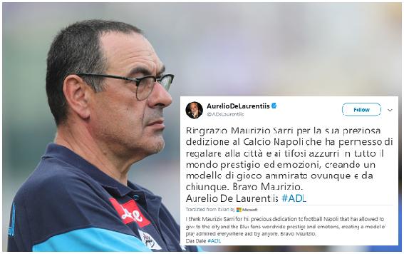 SSC Napoli Dumps Maurizio Sarri