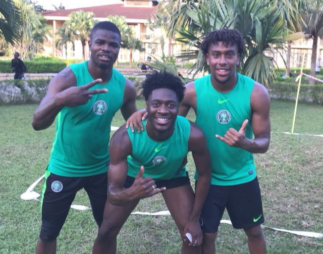 Super Eagles in High spirits! Players unwind with a Game of Foot Volley