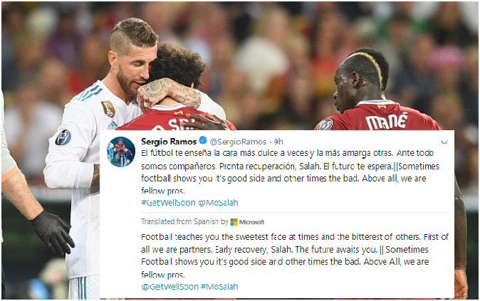 Sergio Ramos Tweets Football Lecture/Apology to Seething Fans and Injured Salah