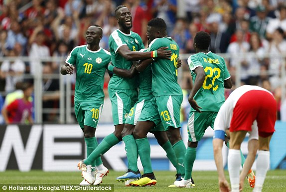 Senegal stun Poland 2-1, record Africa's first win in Russia