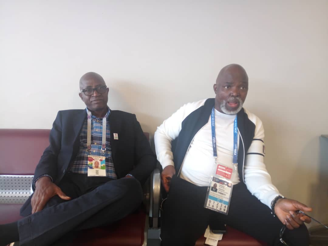 'Mathematical' Odegbami, Amaju Pinnick arrive Volgograd for Eagles vs Iceland