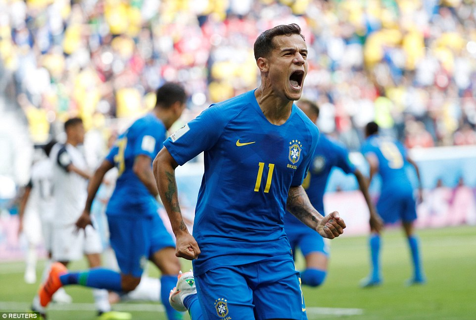Brazil 2-0 Costa Rica: Neymar and Coutinho rescue Brazil in stoppage time after VAR penalty drama