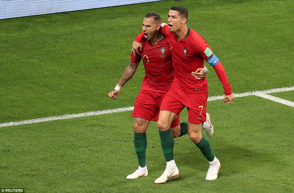 Ronaldo escapes Red card as Spain and Portugal progress