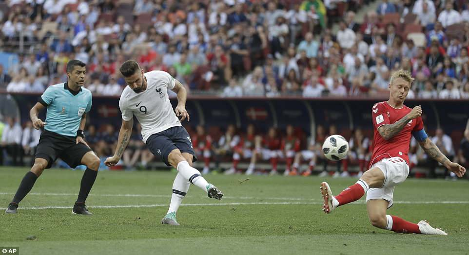 Denmark and France play out first '0-0' at the 2018 World Cup