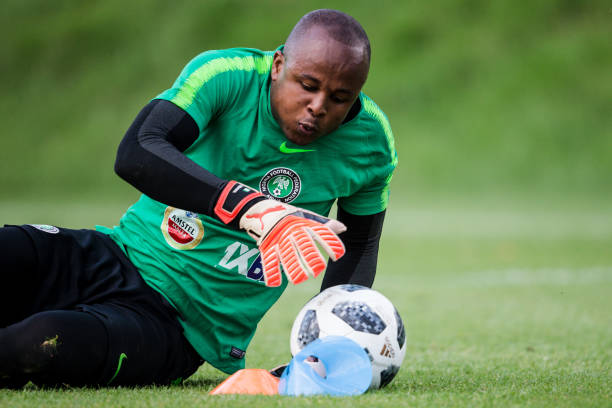 Eagles Goalie Ezenwa gets one valuable gift from Russia [Photos]