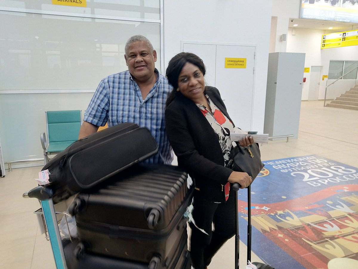 Show of Support! Iwobi's family arrive Volgograd for Iceland clash