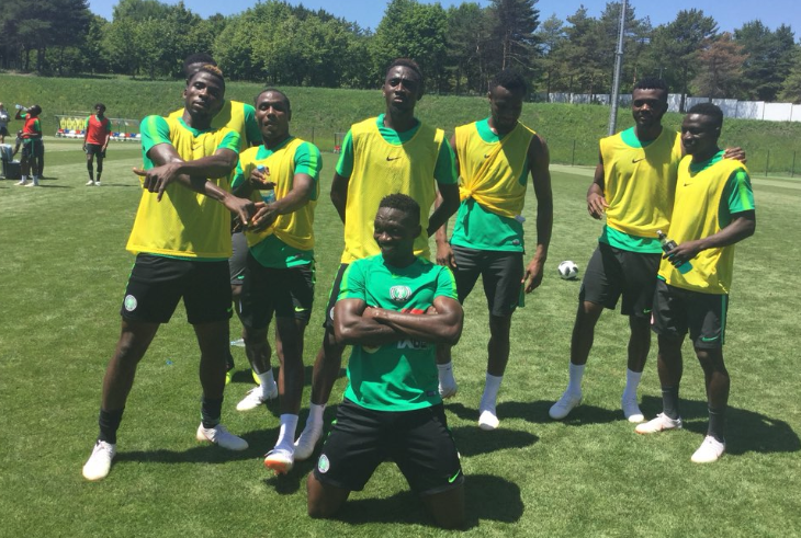 Super Eagles wind down with game of 'Monkey Post'