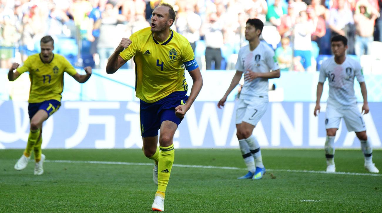 VAR penalty helps Sweden sneak a win over South Korea