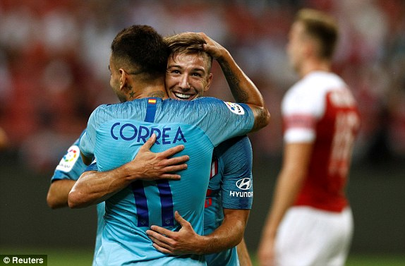 ICC 2018: Atletico Madrid beat Arsenal 3-1 on penalties